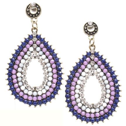 Aros colgantes con strass violeta, ShenShina