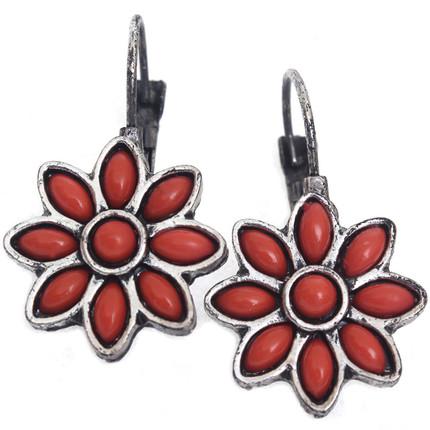 Aros flor margarita rojo, ShenShina