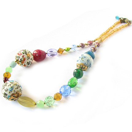Collar cristales y tela, ShenShina
