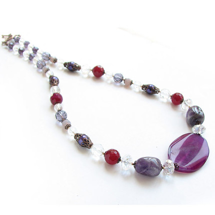 Collar Ágata y cristal, ShenShina
