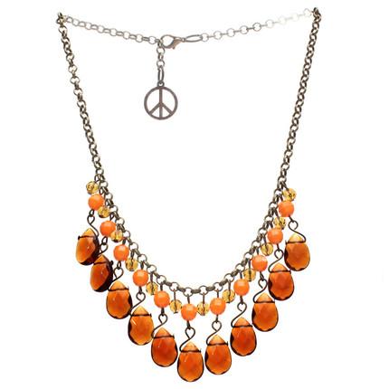 Collar naranja gotas de cristal, ShenShina