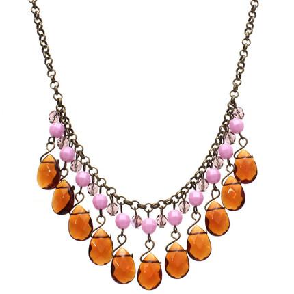 Collar lila gotas de cristal, ShenShina