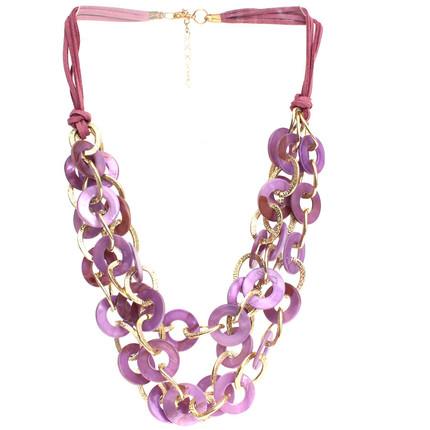 Collar dorado y nacar violeta, ShenShina