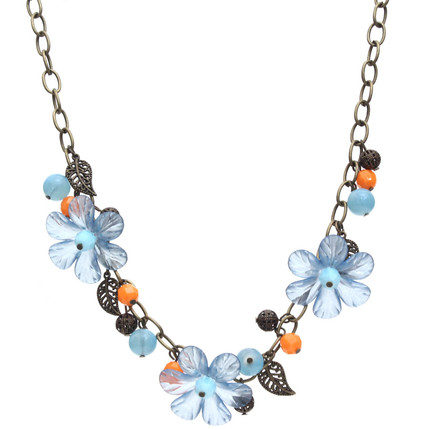 Collar flores turquesa, ShenShina