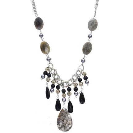 Collar de piedras naturales semipreciosas y cristales, ShenShina