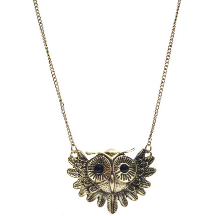 Collar de bronce lechuza y cadena, ShenShina