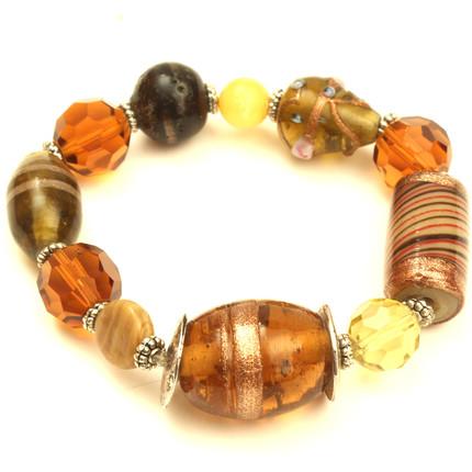 Pulsera elastizada con piedras indias y cristales, ShenShina