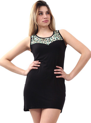 Vestido animal negro de Peuque, Peuque