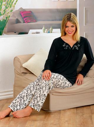 Pijama Invierno bordado de Lencatex, Lencatex
