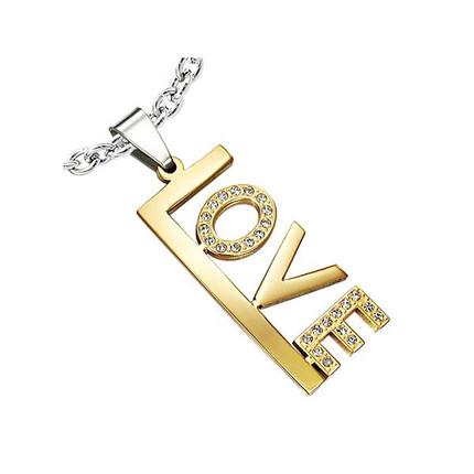 Dije Acero Quirúrgico Love oro y cristal, ShenShina