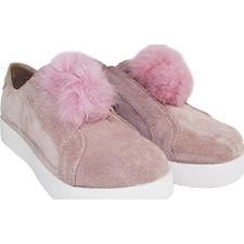 Zapatillas pompon 100% cuero modelo SAM Rosa, Shoes Bayres