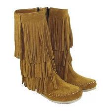 Bota de cuero con flecos modelo ZUMBA, Shoes Bayres