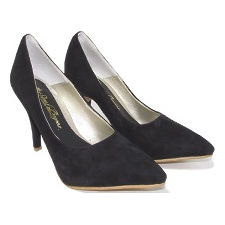 Stilletto gamuzado de punta mod MILONGA, Shoes Bayres