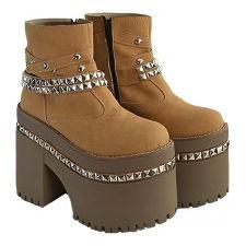 Botineta doble plataforma modelo VIKINGA, Shoes Bayres