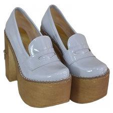 Mocasin con plataforma de Charol modelo FANNY, Shoes Bayres