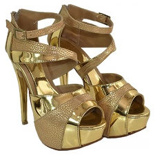 Sandalia taco Aguja modelo MILLION, Shoes Bayres