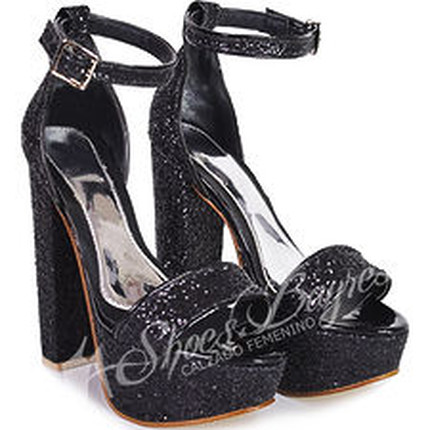 Sandalia con Pulsera en glitters modelo RICCI, Shoes Bayres