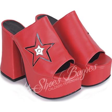 Zueco taco acampanado modelo STAR, Shoes Bayres