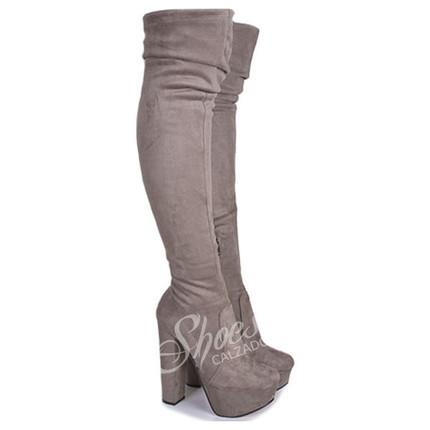 Bota BucaneraTerciopelo elastizada modelo DYABLA, Shoes Bayres