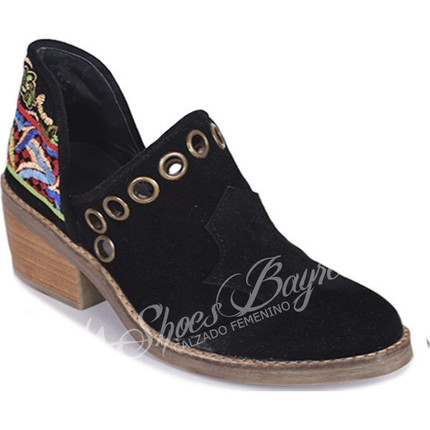 Botineta charrito bordado modelo TALYA, Shoes Bayres