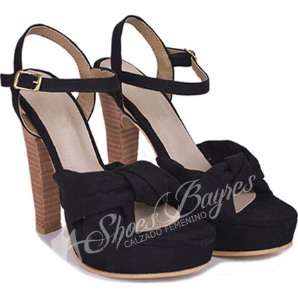 Sandalia taco foliado modelo FIDA, Shoes Bayres