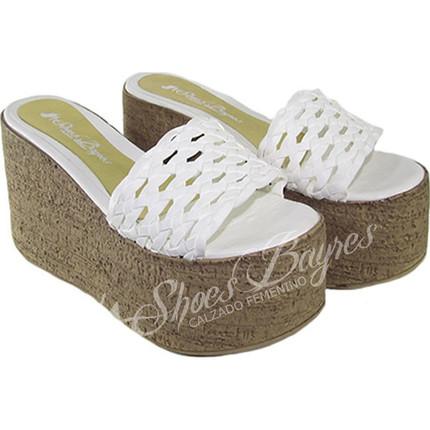 Zueco con plataforma modelo TRAMADO, Shoes Bayres