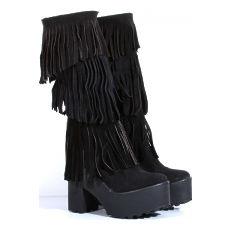 Botas de Gamuza con fleco Modelo Ricky, Shoes Bayres