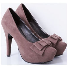 Stilletto modelo MIA 2 gamuzado con moño, Shoes Bayres