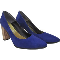 Stilletto taco Foliado bajo gamuzado modelo FRIDA, Shoes Bayres