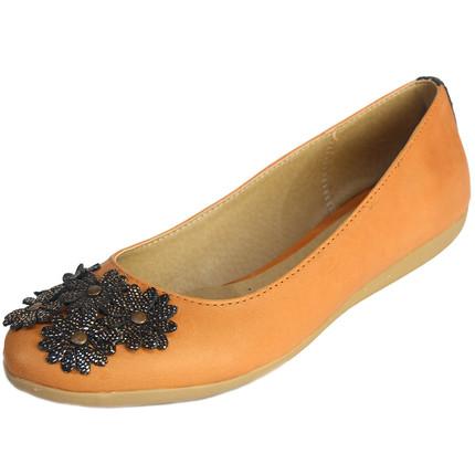 Balerina de cuero suela con flores, Sucre