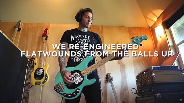 Mike Herrera plays Flatwound bass strings