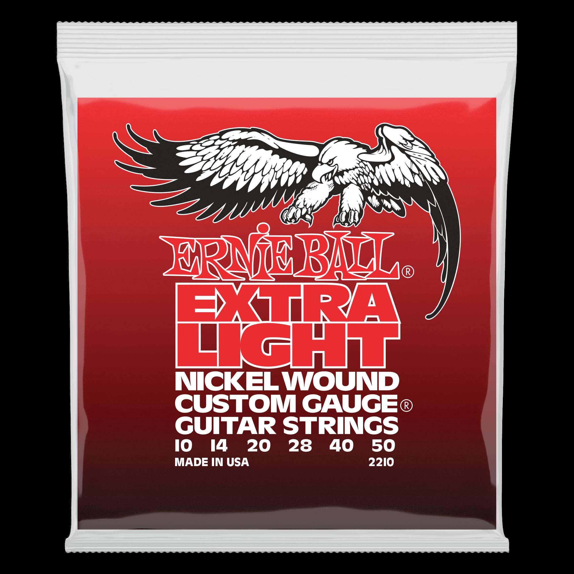 G Electric Nickel Wound Custom Gauge Electric Guitar Strings Ernie Ball