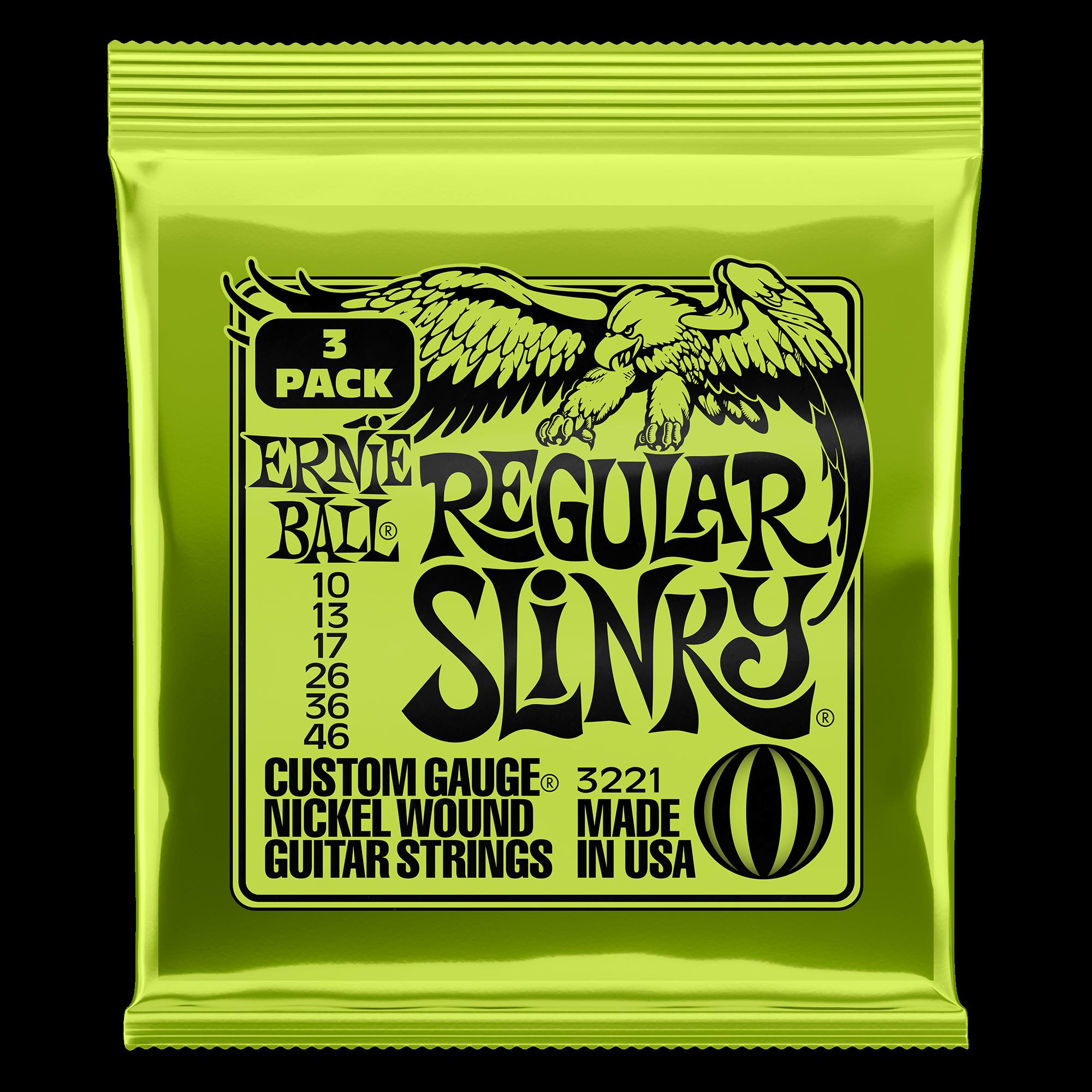 Slinky Nickel Wound E-Gitarren 6-Saiter | Ernie Ball
