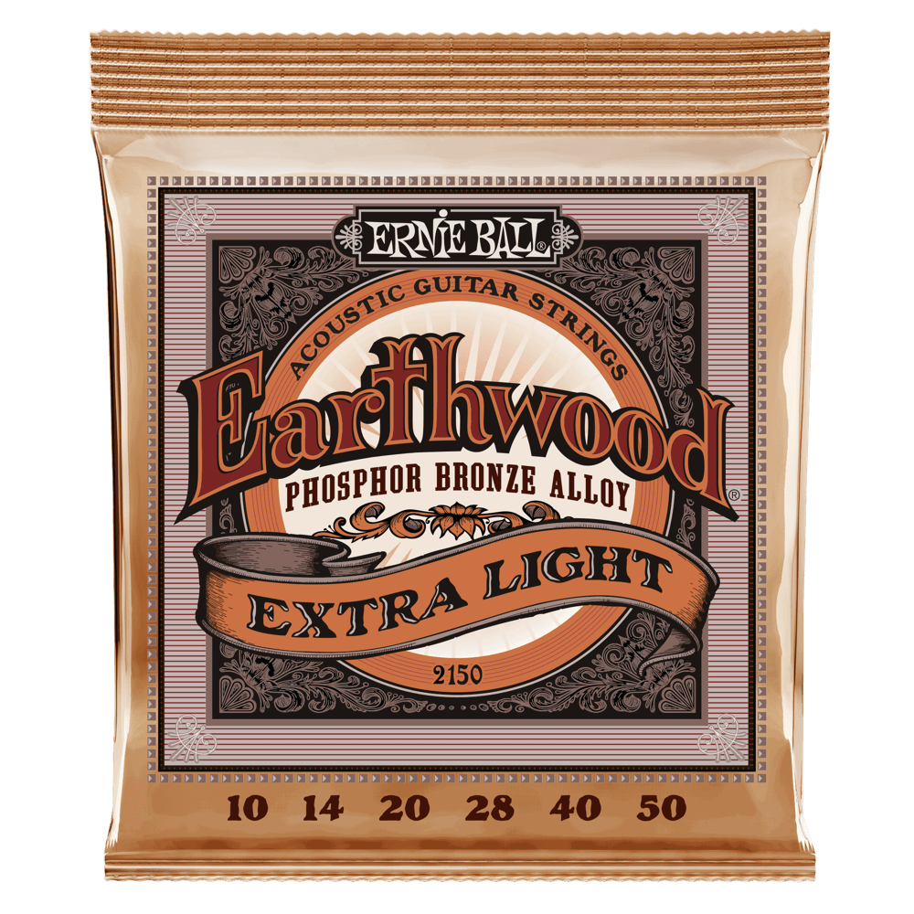 Earthwood Extra Light Phosphor Bronze Acoustic Guitar Strings Front