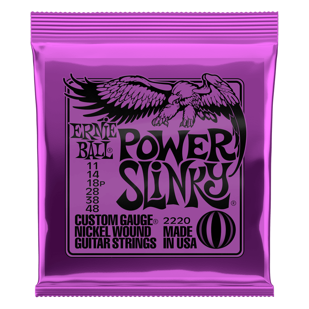 Power Slinky Nickel Wound Electric Guitar Strings Front