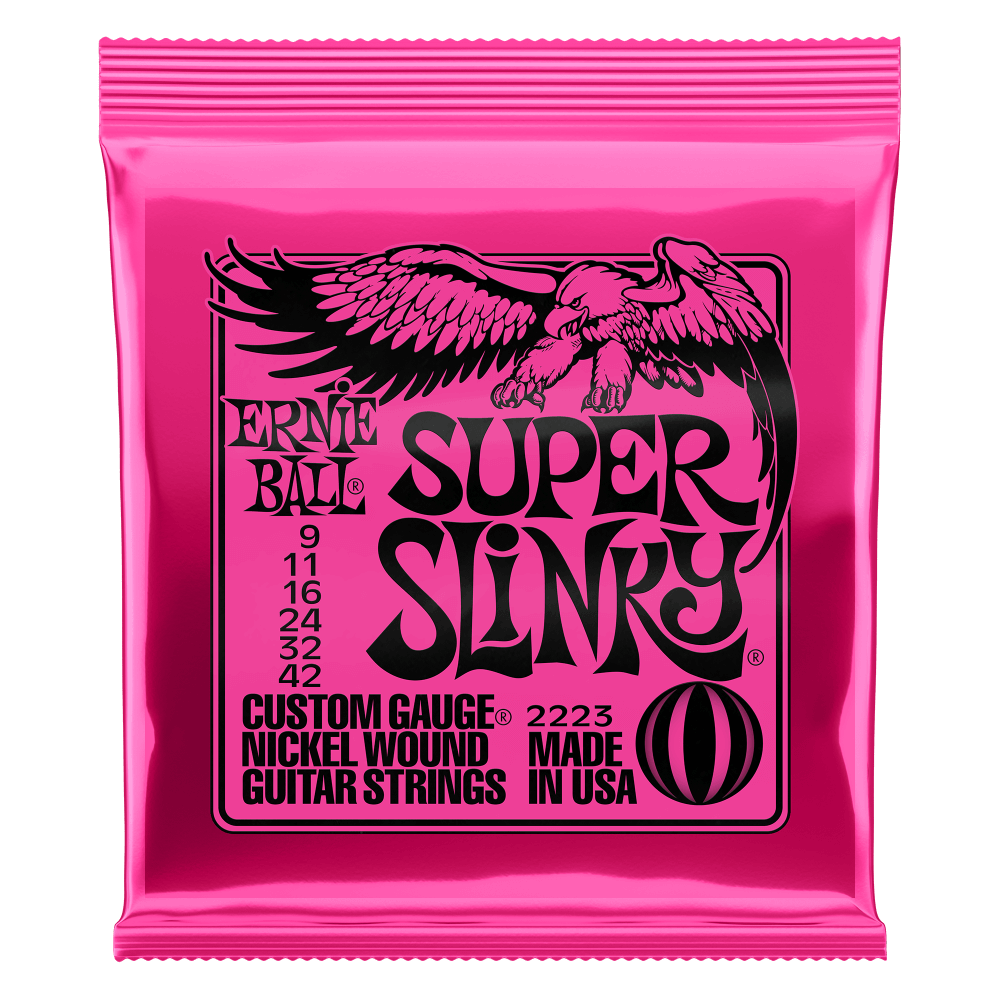 Super Slinky Nickel Wound Electric Guitar Strings Front