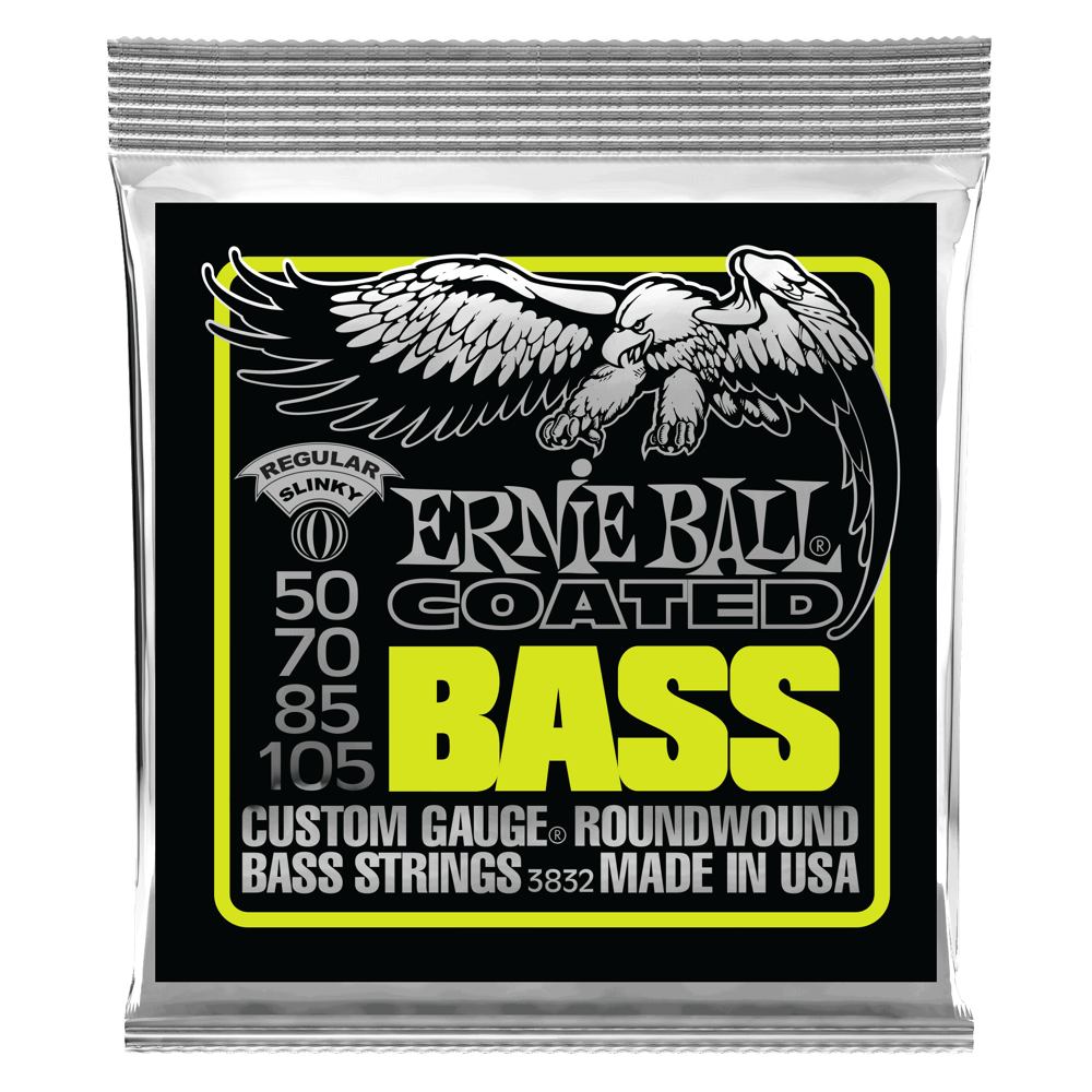 Regular Slinky Coated Electric Bass Strings Front