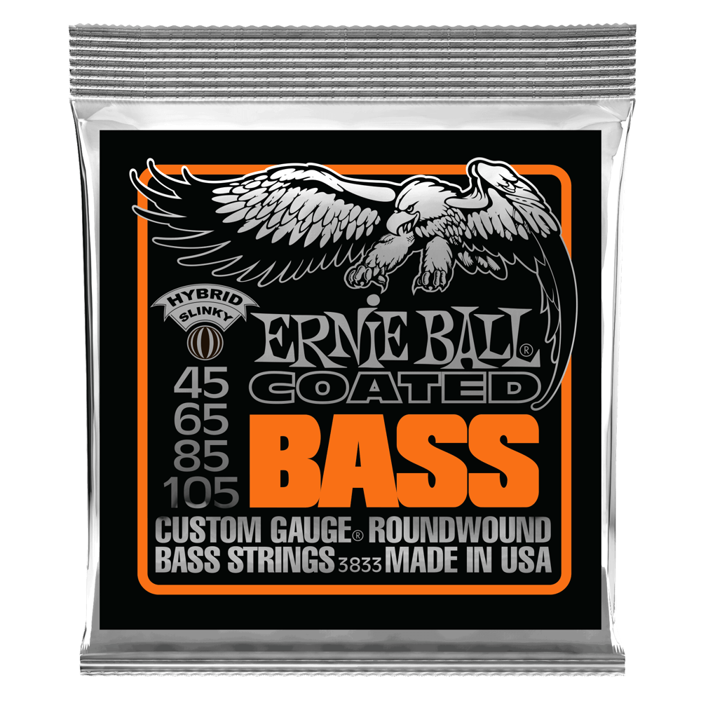 Hybrid Slinky Coated Electric Bass Strings Front