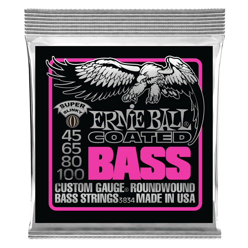 Super Slinky Coated Electric Bass Strings Front