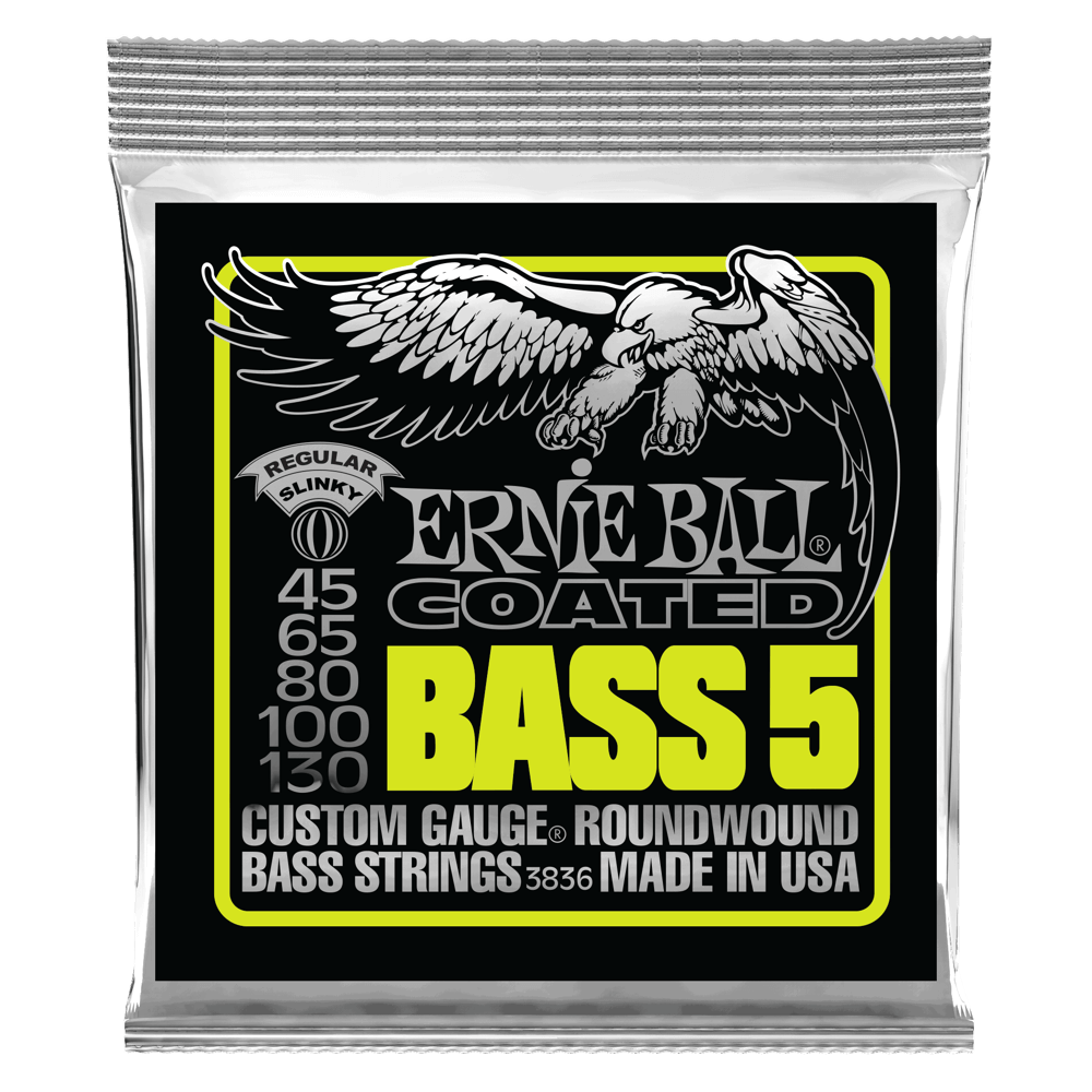 Bass 5 Slinky Coated Electric Bass Strings Front