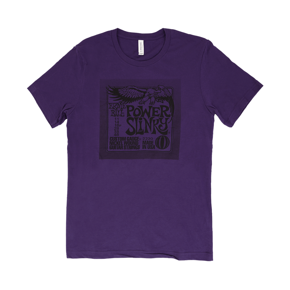 Ernie Ball Power Pack T-Shirt Purple Medium Front