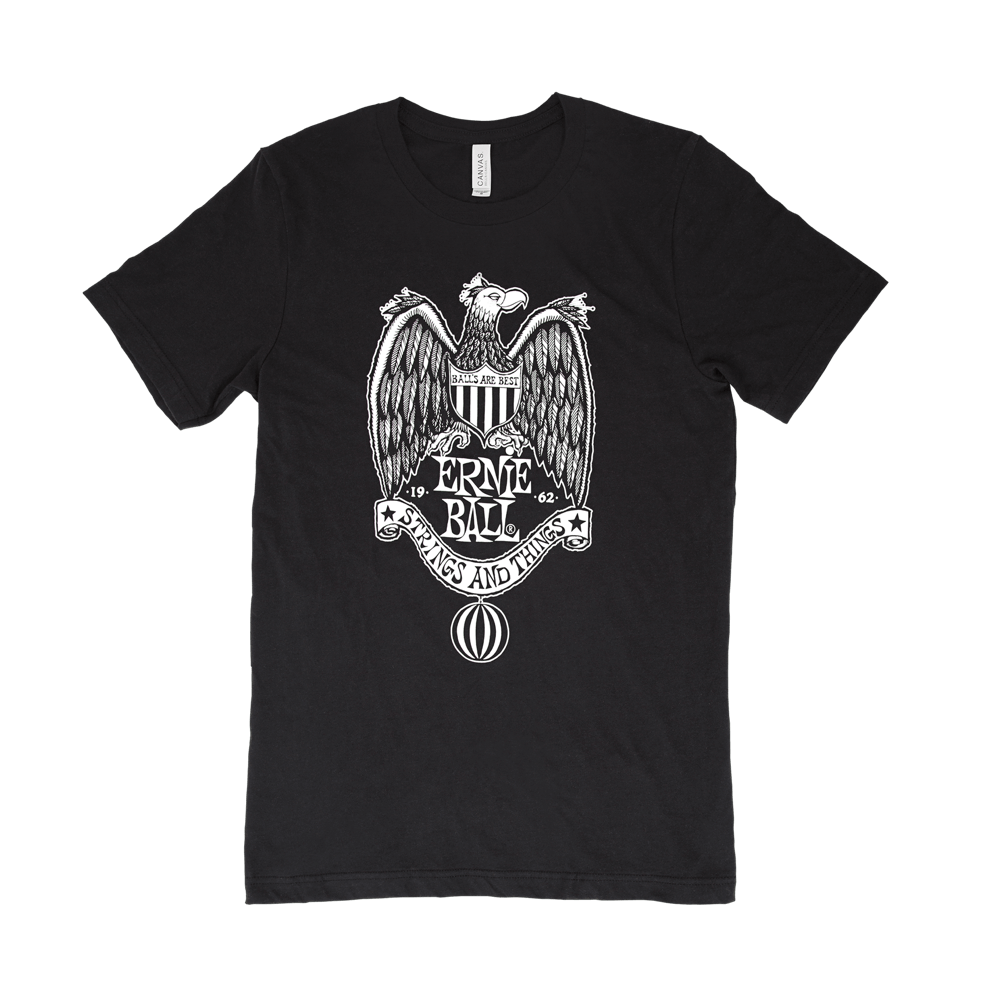 Ernie Ball Vintage Eagle Crest T-Shirt  Medium Front