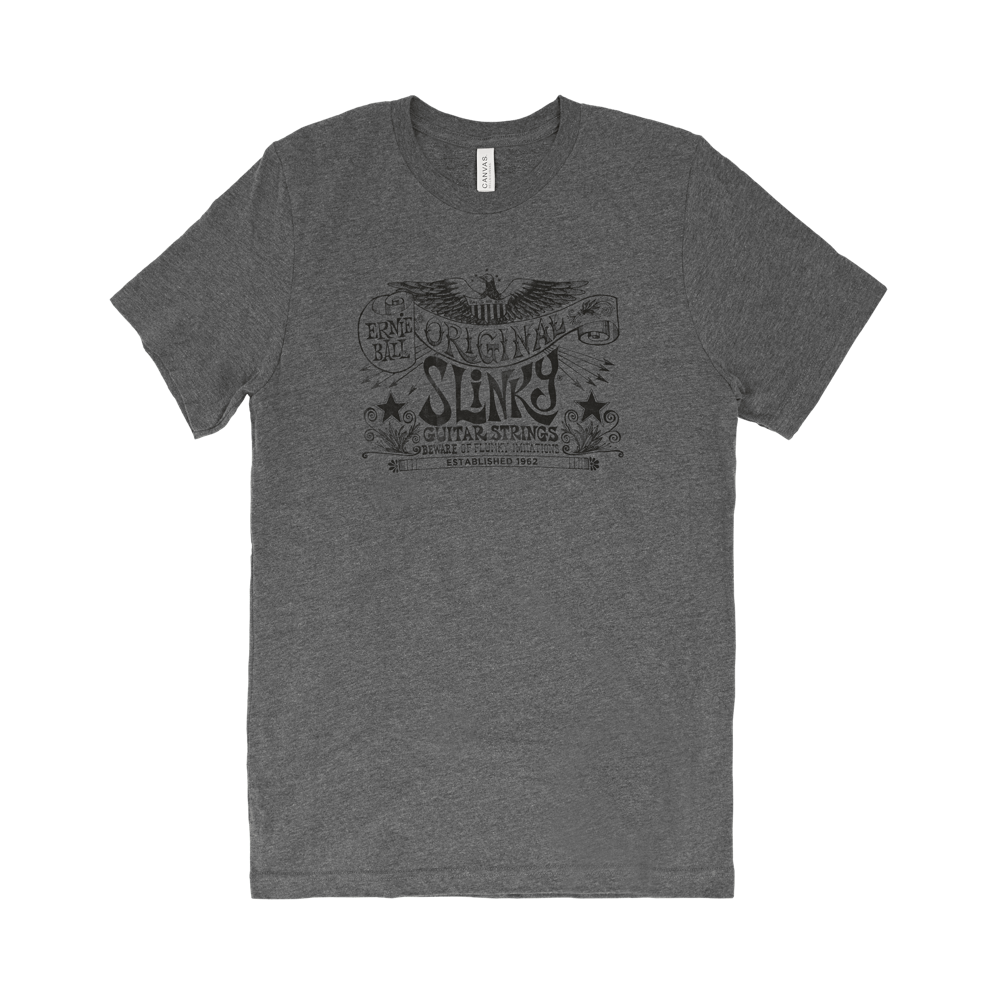 Ernie Ball Vintage Original Eagle Banner T-Shirt Front