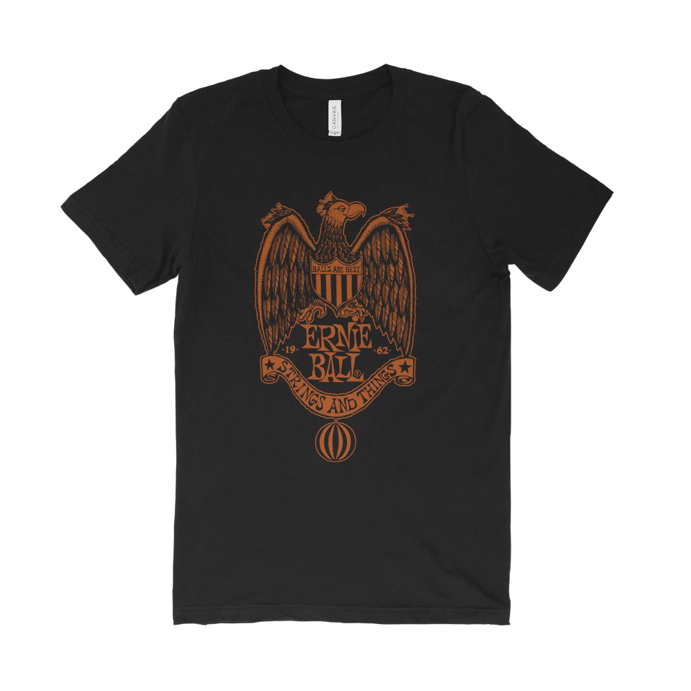 Ernie Ball Vintage Eagle Crest T-Shirt Small Front