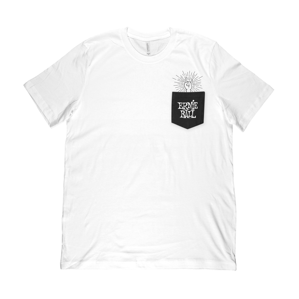 Ernie Ball Rock-On Pocket T-Shirt SM Front