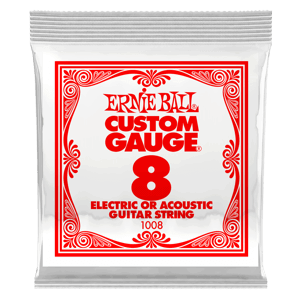 Plain Steel Electric or Acoustic Guitar Single Strings