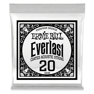 Everlast Coated Phosphor Bronze Acoustic Guitar Single Strings