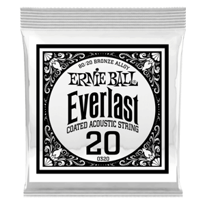 Everlast Coated 80/20 Bronze Corde Unit Pour Guitare Folk