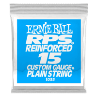 .015 RPS Reinforced Plain Electric Guitar Strings Pack of 6 Thumb