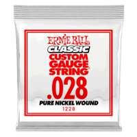 .028 Classic Pure Nickel Wound Electric Guitar Strings 6 Pack Thumb